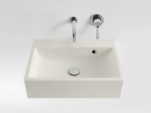 Agape Block lavabo sospeso senza foro per rubinetteria ACER720M0RZ