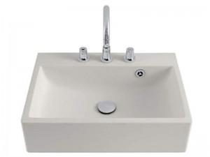 Agape Block lavabo sospeso con 3 fori per rubinetteria ACER720M3RZ