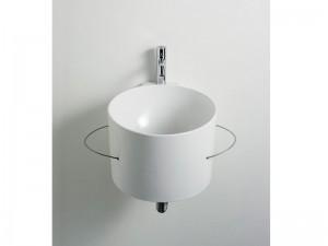 Agape Bucatini lavabo sospeso con portasalviette ACER0740N