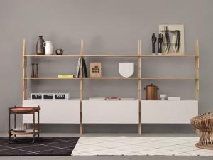 Agapecasa Cavalletto composizione libreria in legno ACVL