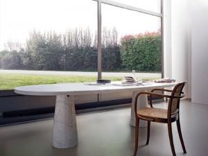 Agapecasa Eros tavolo da pranzo ovale in marmo