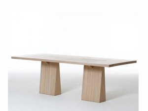Agapecasa Incas tavolo da pranzo rettangolare con due supporti