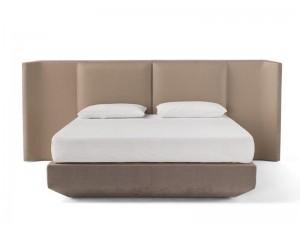 Amura Panis Bed letto matrimoniale in pelle PANISBED595.605