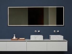 Antonio Lupi Fila specchio rettangolare con led bianco FILA75W