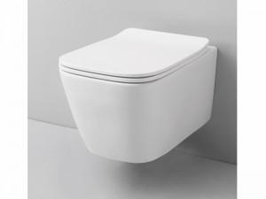 Artceram A16 Mini vaso sospeso rimless con coprivaso frizionato in bianco opaco ASV00505