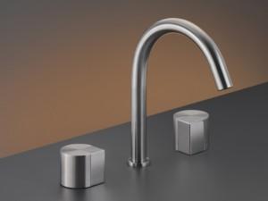 Cea Duet rubinetto lavabo 3 fori con bocca girevole DET14