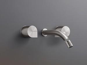Cea Duet rubinetto bidet 3 fori a parete con bocca orientabile DET27