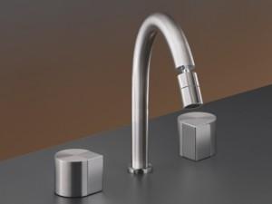 Cea Duet rubinetto bidet 3 fori con bocca orientabile DET28