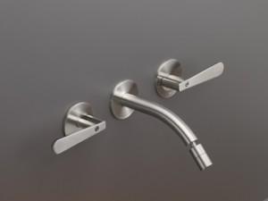 Cea Lutezia rubinetto bidet 3 fori a parete con bocca orientabile LTZ04