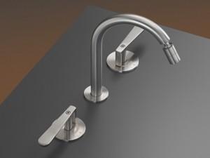 Cea Lutezia rubinetto bidet 3 fori con bocca orientabile LTZ12