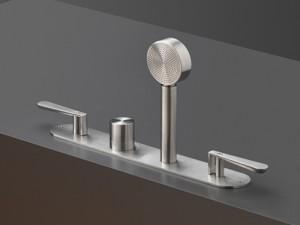 Cea Lutezia miscelatore termostatico vasca con 2 rubinetti d'arresto e doccetta estraibile LTZ3
