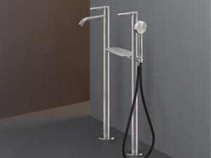 Cea Lutezia Plus rubinetto vasca a pavimento con doccetta LTZ47