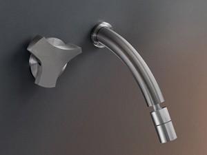Cea Ziqq rubinetto bidet idroprogressivo 2 fori a parete con bocca orientabile ZIQ31