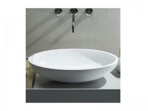 Cielo Eco 62 lavabo da appoggio ovale in ceramica BAECO