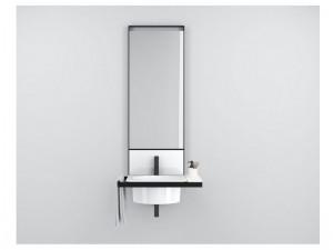 Cielo Elle Tonda mobile lavabo bianco con struttura nera