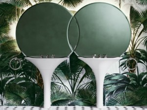 Devon & Devon Double Kalos doppio lavabo freestanding con specchio DOUBLEKALOS
