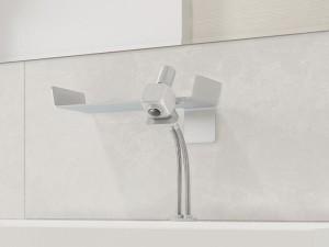 Dueacca Kit 03 Indoor rubinetto lavabo monocomando con supporto a parete 4120038101