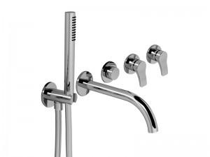 Fantini AL/23 rubinetto vasca 5 fori con deviatore e doccetta B719B
