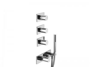 Fantini Milano miscelatore termostatico doccia con 4 rubinetti d'arresto e doccetta 4714B