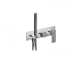 Fantini Mint Acciaio rubinetto doccia con deviatore e doccetta F784B