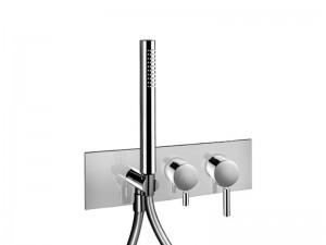 Fantini Nostromo Acciaio rubinetto doccia con deviatore 2 vie e doccetta E884B