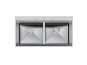 Foster Milano lavello cucina 2 vasche in acciaio 1020 050