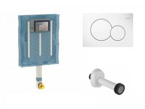 Geberit kit cassetta da incasso e placca di scarico per sanitari