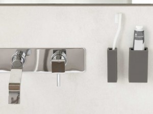 Geelli Li Stiamo kit portaspazzolino e porta dentifricio adesivi GLS-2S1-C60