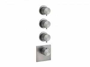 Gessi 316 Wellness miscelatore termostatico doccia con 3 rubinetti d'arresto 54506