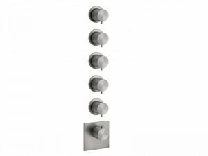 Gessi 316 Wellness miscelatore termostatico doccia con 5 rubinetti d'arresto 54510