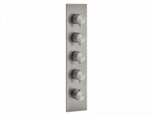 Gessi 316 Wellness miscelatore termostatico doccia con 4 rubinetti d'arresto 54518