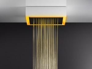 Gessi Afilo soffione doccia a soffitto con cromoterapia 57503