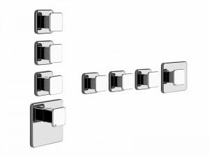Gessi Ispa Wellness miscelatore termostatico doccia con 3 rubinetti d'arresto 41536