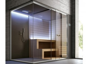 Hafro Ethos sauna con doccia SET50074-1D010