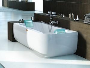 Jacuzzi Aquasoul Double vasca da bagno idromassaggio angolare AQU50011744SX