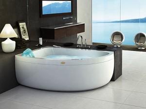 Jacuzzi Aquasoul Offset vasca da bagno idromassaggio angolare AQU30011744SX