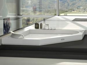 Jacuzzi Aura Corner 140 Corian vasca da bagno idromassaggio a incasso 9443737