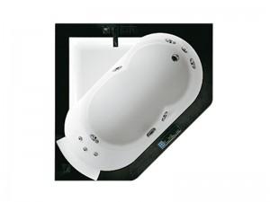 Jacuzzi Aura Corner 140 Stone vasca da bagno idromassaggio a incasso 9F43811