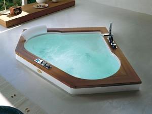 Jacuzzi Aura Corner 140 Wood vasca da bagno idromassaggio a incasso 9F43492A