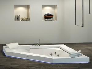 Jacuzzi Aura Corner 160 Corian vasca da bagno idromassaggio a incasso 9443740
