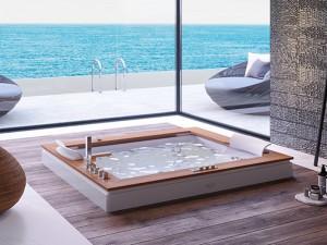 Jacuzzi Aura Plus Wood vasca da bagno idromassaggio a incasso 9H43334