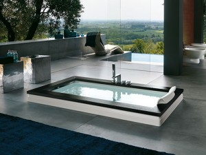 Jacuzzi Aura Uno Wood vasca da bagno idromassaggio a incasso 9F43529SX
