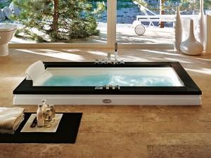 Jacuzzi Aura Uno Stone vasca da bagno idromassaggio a incasso 9F43809SX