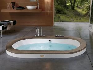 Jacuzzi Opalia Wood vasca da bagno idromassaggio a incasso 9F43498