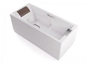 Jacuzzi Slim+Pro vasca da bagno idromassaggio a parete THE30141513SX