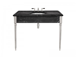 Lefroy Brooks Edwardian consolle in marmo Marquina Nero LB6334BK