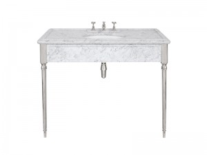 Lefroy Brooks Edwardian consolle in marmo di Carrara LB6334WH