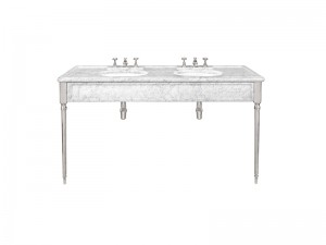 Lefroy Brooks Edwardian doppia consolle in marmo di Carrara LB6434WH