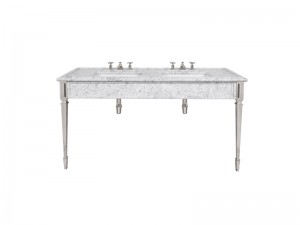 Lefroy Brooks Mackintosh doppia consolle in marmo di Carrara LB6443WH