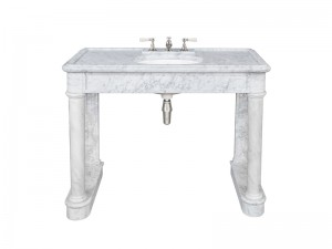 Lefroy Brooks Russborough consolle in marmo di Carrara LB6331WH